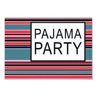 partido de pijama listrado convite 8.89 x 12.7cm