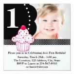 Partido de primeiro aniversario da foto das convites personalizados
