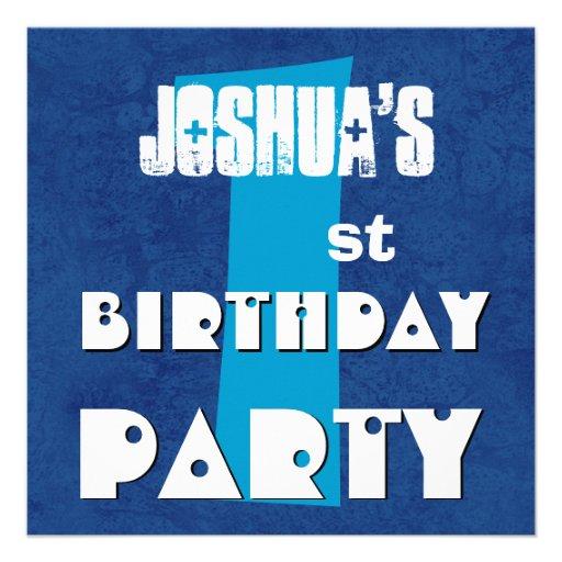 Partido de primeiro aniversario estrelas azuis gra convite