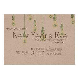 Partido de suspensão da véspera de ano novo das convite 12.7 x 17.78cm