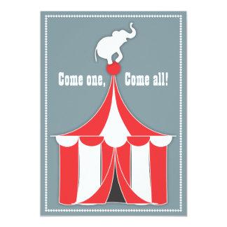 Partido de tenda do circus & de aniversário de convites