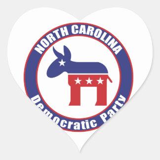 Partido Democrática de North Carolina Adesivos De Corações