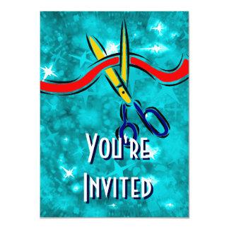 Partido do azul do lançamento da grande convite personalizados