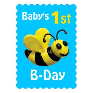 Partido do B-Dia do bebê ø Convite 12.7 X 17.78cm