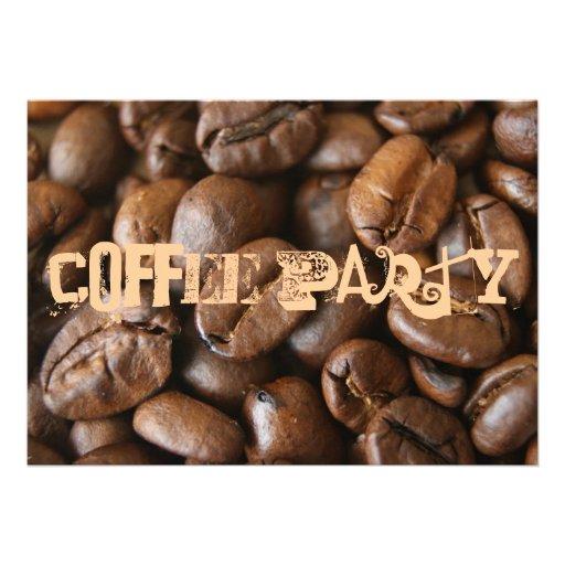 Partido do café convite personalizados
