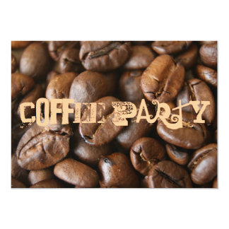Partido do café convite 12.7 x 17.78cm