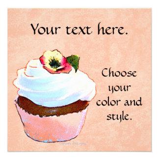 Partido do convite do cartão do cupcake