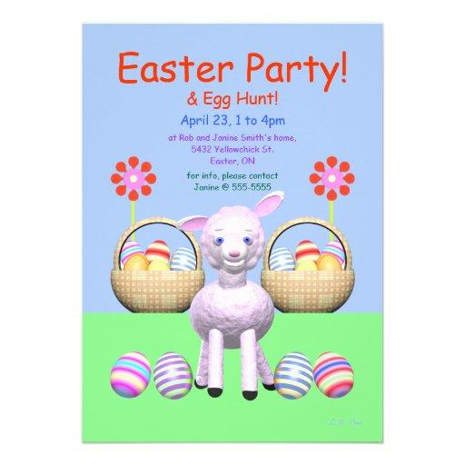 Partido do cordeiro e da páscoa dos ovos convites