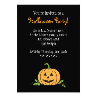 Partido do Dia das Bruxas da lanterna de O de Jack Convites Personalizados