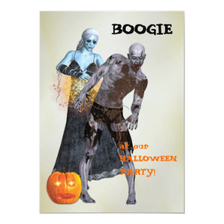Partido do Dia das Bruxas do zombi da dança Convite 12.7 X 17.78cm