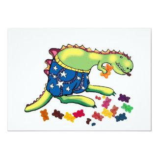 partido do dinossauro thankyou convite 12.7 x 17.78cm