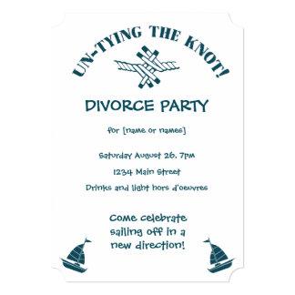 Partido do divórcio engraçado desatando o convite