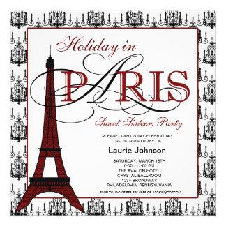 Partido do doce dezesseis de Paris Convites Personalizado