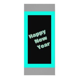 Partido do feliz ano novo convite 10.16 x 23.49cm