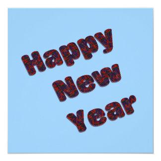 Partido do feliz ano novo convite quadrado 13.35 x 13.35cm