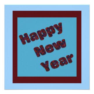Partido do feliz ano novo convite personalizado