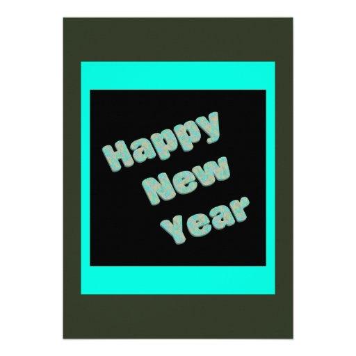 Partido do feliz ano novo convites personalizados