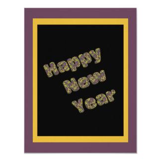 Partido do feliz ano novo convite 10.79 x 13.97cm