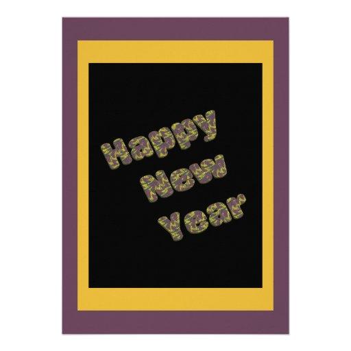 Partido do feliz ano novo convite