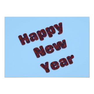 Partido do feliz ano novo convite 12.7 x 17.78cm