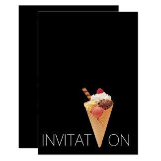 Partido do gelado de Gelato do italiano do Convite 8.89 X 12.7cm