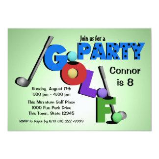Partido do mini golfe convite 12.7 x 17.78cm
