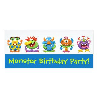 Partido do monstro convite 10.16 x 23.49cm