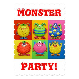 Partido do monstro convite 12.7 x 17.78cm