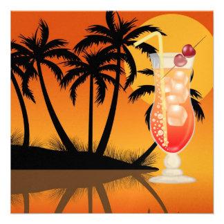 PARTIDO do paraíso Luau - SRF Convite Personalizado