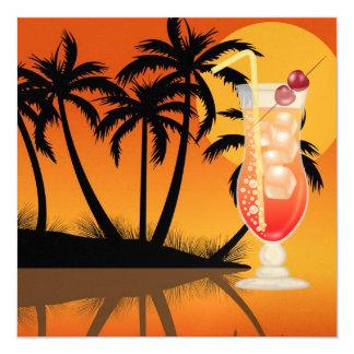 PARTIDO do paraíso/Luau - SRF Convite Personalizados