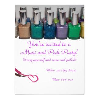Partido do Pedicure do Manicure Convite Personalizado