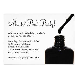Partido do Pedicure do Manicure Convite 12.7 X 17.78cm
