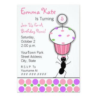 Partido do piquenique do aniversário das crianças convites personalizado