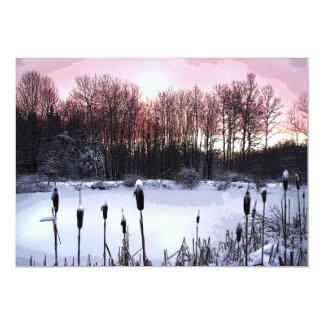 Partido do solstício de inverno convite 12.7 x 17.78cm