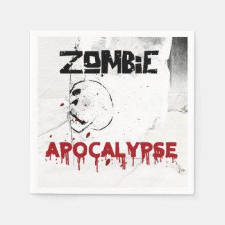 Partido do tema do apocalipse do zombi guardanapo de papel