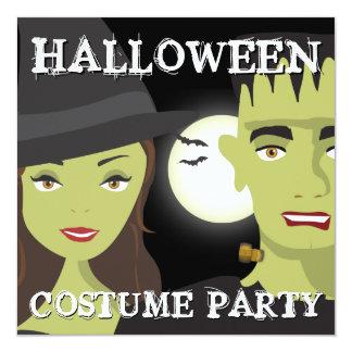 Partido do traje do Dia das Bruxas dos adultos da Convite Quadrado 13.35 X 13.35cm
