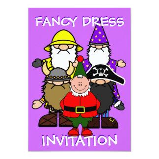 Partido do vestido de fantasia convite 12.7 x 17.78cm