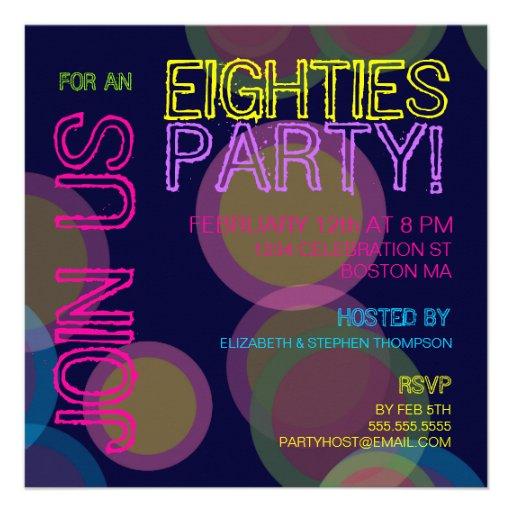 Partido dos anos 80! Convite