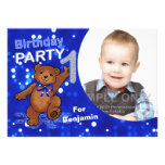 Partido dos ursos de ursinho do primeiro aniversar convites personalizados