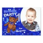 Partido dos ursos de ursinho do primeiro convites personalizados