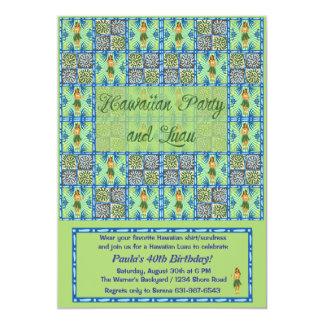 Partido e convite havaianos de Luau
