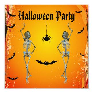 Partido engraçado do Dia das Bruxas dos esqueletos Convites