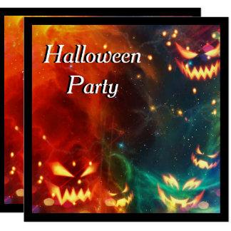Partido fantasma do Dia das Bruxas das abóboras Convite Quadrado 13.35 X 13.35cm