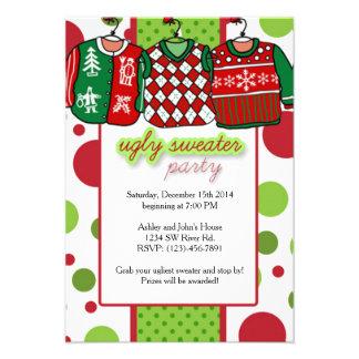 Partido feio da camisola do Natal Convite 9.52 X 12.7cm