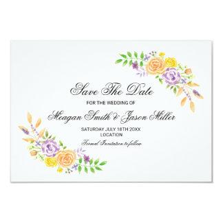 Partido floral do pêssego do casamento dos cartões