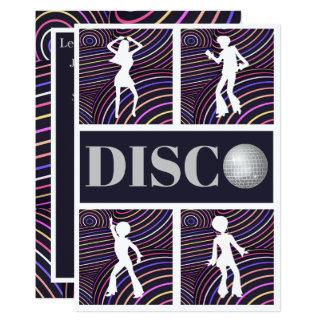 Partido Funky dos anos 70 do tema do disco dos Convite 12.7 X 17.78cm