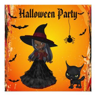 Partido gótico do Dia das Bruxas da bruxa do Convite Quadrado 13.35 X 13.35cm