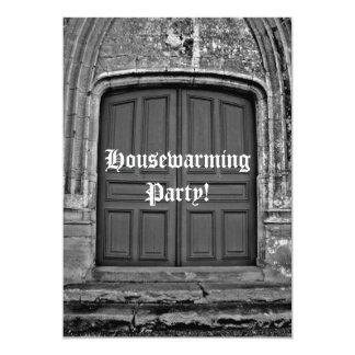 Partido gótico do housewarming convite 12.7 x 17.78cm
