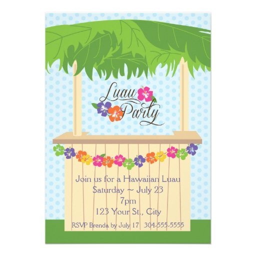 Partido havaiano de Luau Convite