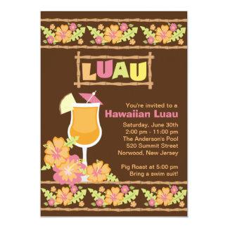 Partido havaiano de Luau das bebidas tropicais à Convites